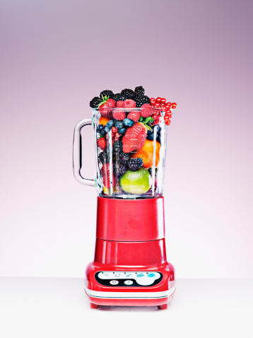 Blackberry - Fruit「Variety of fruit crammed in blender」:スマホ壁紙(19)