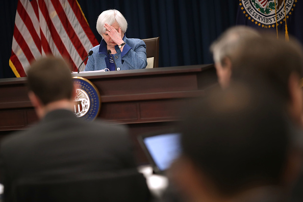 Politics「Fed Chair Janet Yellen Holds News Conference On Interest Rate Decision」:写真・画像(16)[壁紙.com]