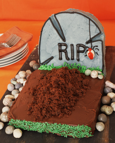 ハロウィン「Halloween Tombstone Cake」:スマホ壁紙(17)