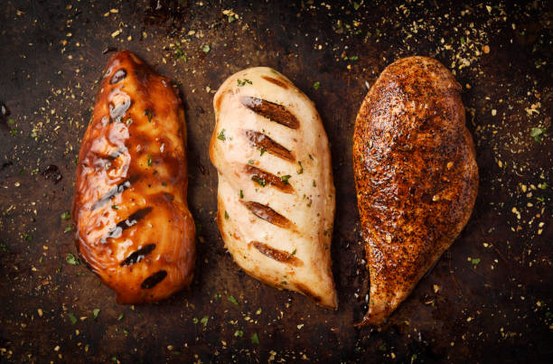 Grilled and Roast chicken breast with seasoning:スマホ壁紙(壁紙.com)