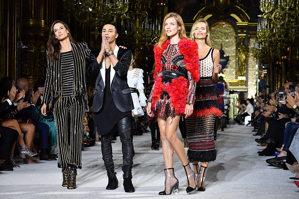 Balmain「Balmain : Runway - Paris  Fashion Week Womenswear Spring/Summer 2018」:写真・画像(8)[壁紙.com]