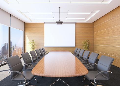 Corporate Business「Boardroom Interior」:スマホ壁紙(2)