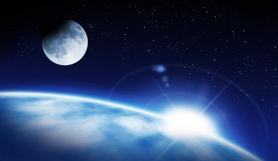 Moon「Earth, rising Sun and Moon」:スマホ壁紙(3)