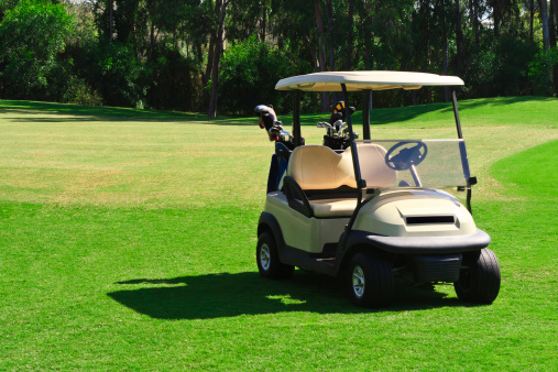 Green - Golf Course「Golf Cart」:スマホ壁紙(13)