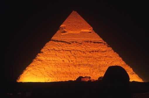 Pyramid Shape「Great Pyramid of Giza, Sphinx at night-Egypt」:スマホ壁紙(14)