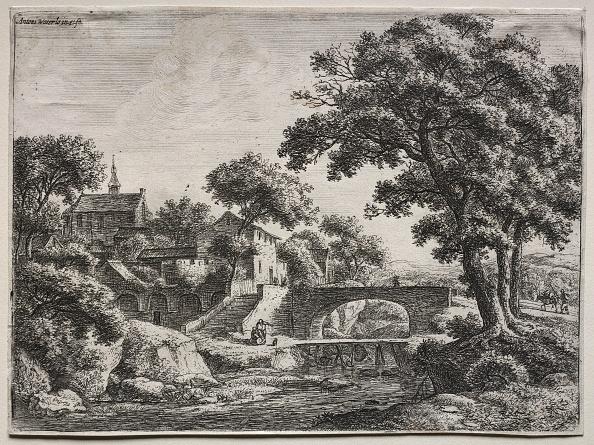 Etching「The Two Bridges. Creator: Anthonie Waterloo (Dutch」:写真・画像(9)[壁紙.com]