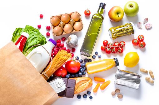 Online Shopping「Pepper bag full of groceries」:スマホ壁紙(5)