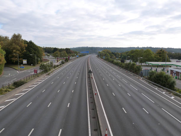 Deserted M27 Motorway Due To Closure For Bridge Demolition At Rownhams 2018.:ニュース(壁紙.com)