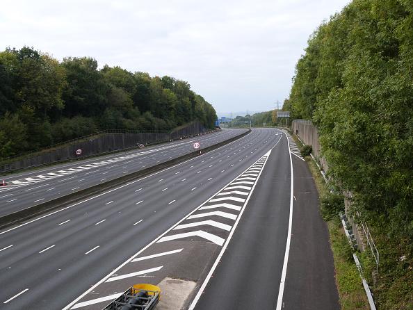 Blank「Deserted M27 Motorway Due To Closure For Bridge Demolition At Rownhams 2018.」:写真・画像(15)[壁紙.com]