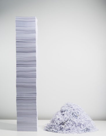 Employment And Labor「Shredded paper and stack of paper」:スマホ壁紙(11)