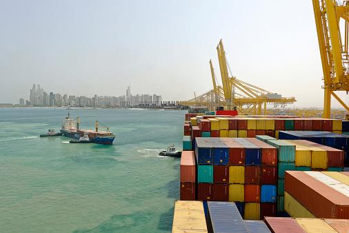 Crane - Construction Machinery「Container ship in  Dubai」:スマホ壁紙(7)