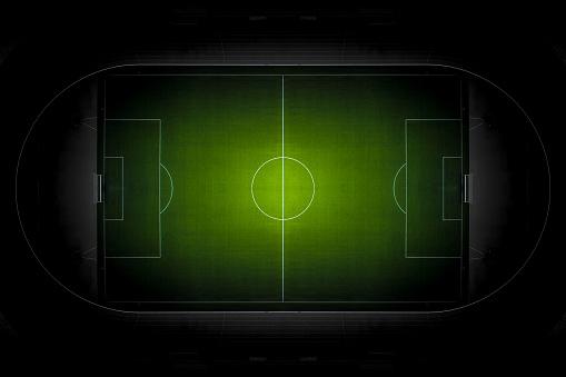 Match - Sport「Soccer football field from top view.」:スマホ壁紙(15)