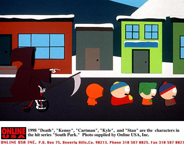 "Cartoon「1998 ""Death"", ""Kenny"", ""Cartman"", ""Kyle"", and ""Stan"" are the characters in the hit series ""South Par」:写真・画像(4)[壁紙.com]"