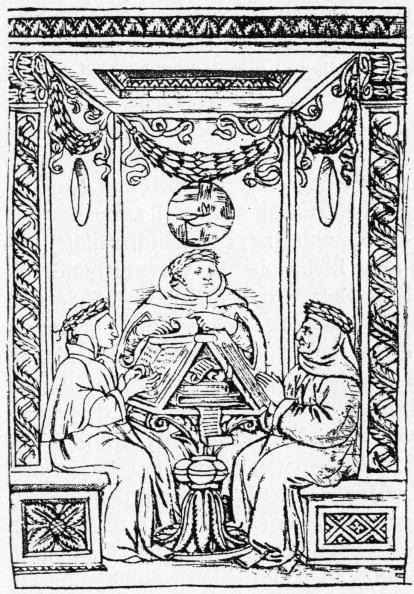 Circa 14th Century「Dante Boccaccio and Petrarch」:写真・画像(2)[壁紙.com]