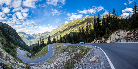 Winding Road「Austria, Vorarlberg, Montafon, Alps, Silvretta high alpine road」:スマホ壁紙(9)