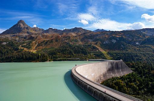 Galtur「Austria, Vorarlberg, dam wall of Kops reservoir」:スマホ壁紙(16)
