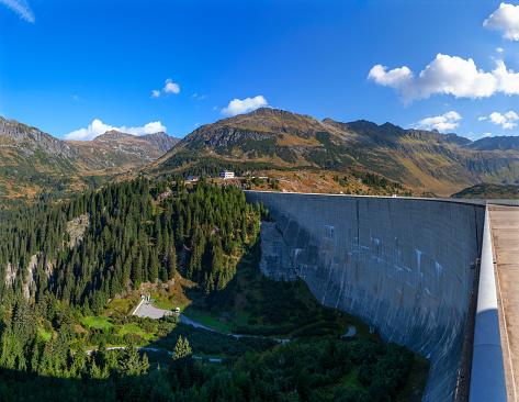 Galtur「Austria, Vorarlberg, dam wall of Kops reservoir」:スマホ壁紙(19)