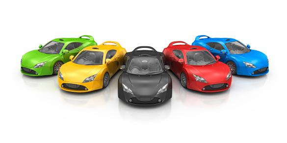 Sports Car「colorful supercar」:スマホ壁紙(15)