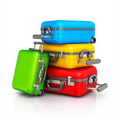 旅行「カラフルなスーツケース」:スマホ壁紙(6)