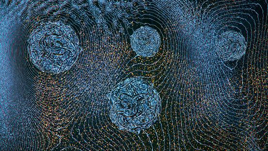 Data「Abstract Hologram Landscape background」:スマホ壁紙(4)