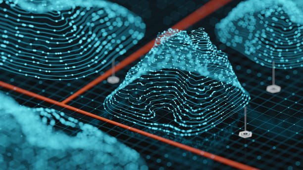 Abstract Hologram Landscape background:スマホ壁紙(壁紙.com)