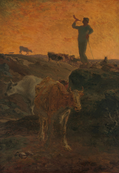 Millet「Calling The Cows Home」:写真・画像(13)[壁紙.com]