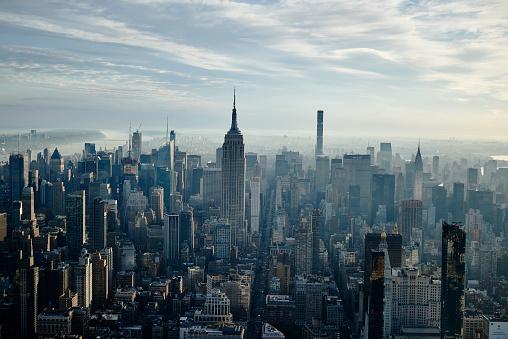 Manhattan - New York City「Aerial New York City Early Morning」:スマホ壁紙(10)