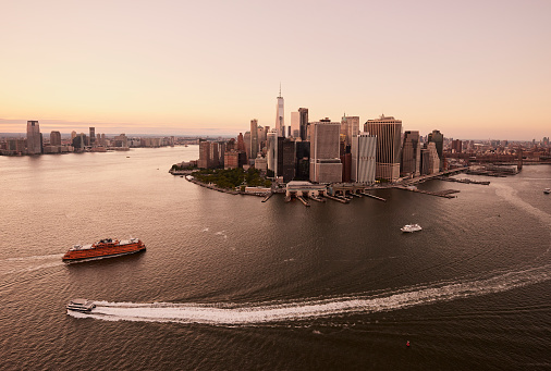 Awe「Aerial New York City - Downtown/Battery?Financial District」:スマホ壁紙(3)