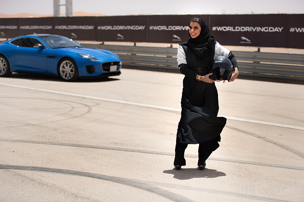 Event「Saudi Female Racing Driver, Aseel Al Hamad, Completes A Lap Of Honour In A Jaguar F-TYPE To Commemorate The Reversal Of The Ban On Women Driving In Saudi Arabia」:写真・画像(19)[壁紙.com]