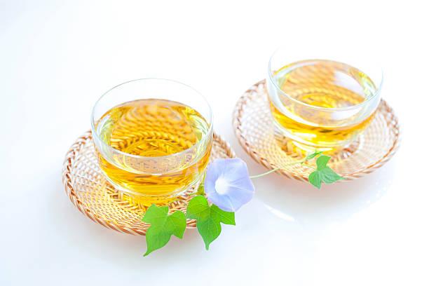 Green tea and morning glory:スマホ壁紙(壁紙.com)