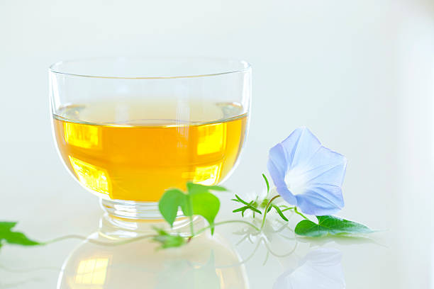 Green tea and morning glory:スマホ壁紙(壁紙.com)