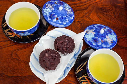 Japan「Green tea and ohagi confection」:スマホ壁紙(0)