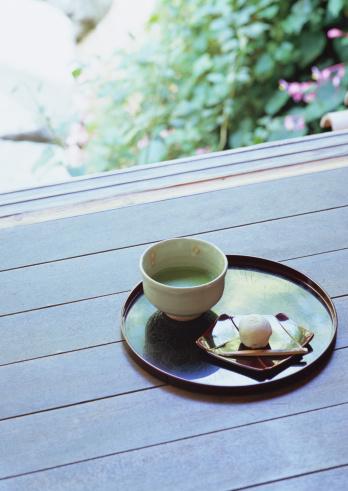和菓子「Green tea and Japanese sweets」:スマホ壁紙(1)
