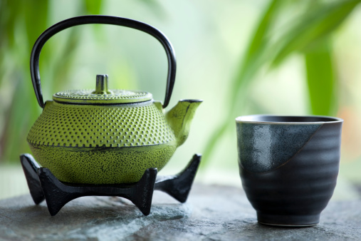 Tea - Hot Drink「Green tea and cast iron teapot」:スマホ壁紙(17)
