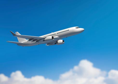 飛行機「ホワイトの中規模の旅客ジェット機」:スマホ壁紙(15)