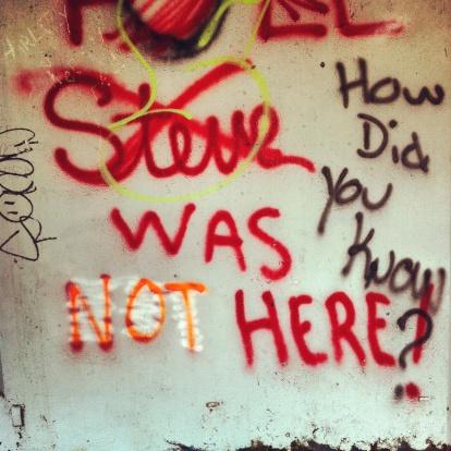 Spray Paint「Steve was here」:スマホ壁紙(7)