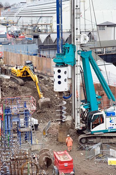 Construction Equipment「Crossrail Works Paddington, London, UK」:写真・画像(7)[壁紙.com]