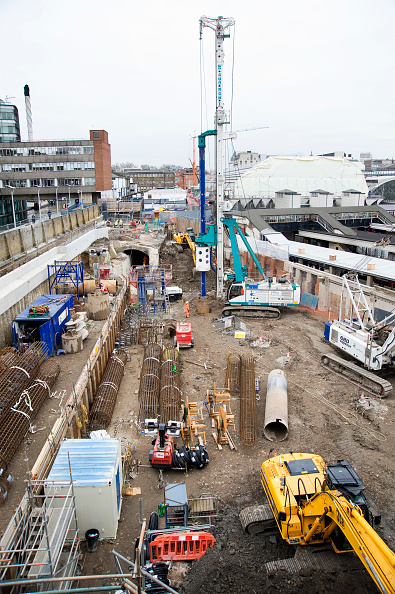 Construction Equipment「Crossrail Works Paddington, London, UK」:写真・画像(8)[壁紙.com]