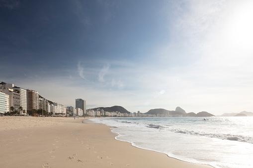 Beach「Copacabana Beach and District overlooking Sugarloaf mountain, Rio de Janeiro, Brazil」:スマホ壁紙(19)