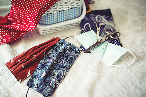 Cloth pattern「Sewing accessories to sew a face mask」:スマホ壁紙(18)