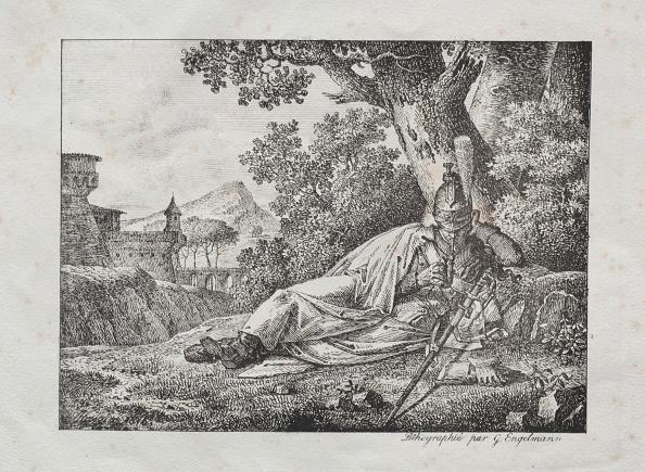 Condiment「Receuil Dessais Lithographiques: Dragon Fumant Couche Au Pied Dun Arbre」:写真・画像(8)[壁紙.com]