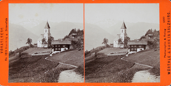 Agricultural Building「Innerberg With The Drusenfluh. View With Church. 1899. Stereophotograph By Würthle & Sohn / Salzburg.」:写真・画像(8)[壁紙.com]