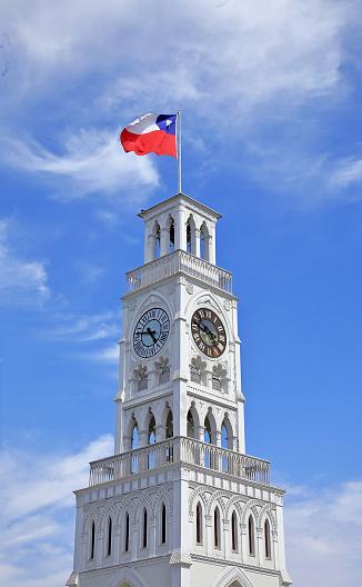 Clock「Clock Tower in Plaza Arturo Prat in Iquique, Chile.」:スマホ壁紙(3)