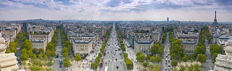 Arc de Triomphe - Paris「Champs-Élysées Eiffel Tower」:スマホ壁紙(3)