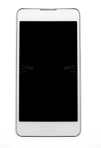 正面から見た図「cell phone on white」:スマホ壁紙(9)