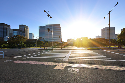 Crosswalk「Marunouchi at dawn」:スマホ壁紙(15)