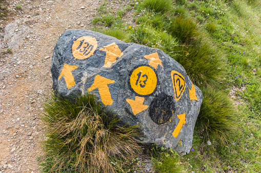 Number 13「Stone trail marker in the Italian Alps」:スマホ壁紙(19)