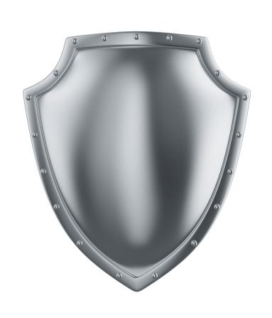 Silver Colored「metal shield」:スマホ壁紙(3)