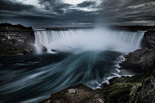 Eastern USA「Niagara Falls at night - Canada - North America」:スマホ壁紙(11)