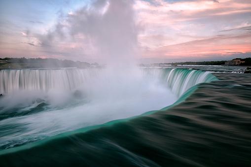 Falling Water - Flowing Water「Niagara Falls at sunset, Toronto, Canada」:スマホ壁紙(7)